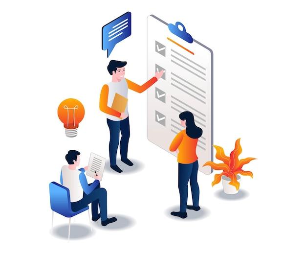 作業チームは計画と作業スケジュールを作成します