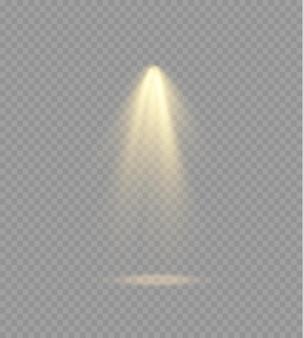 黄色のスポットライトが舞台照明専用レンズフラッシュライト効果ランプからの抽象的な光またはスポットライトベクトルの下のスポットライト照明シーン表彰台を照らします