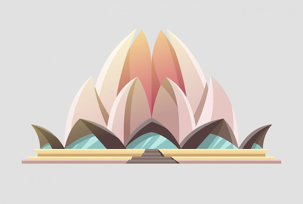 Theater building design like a lotus