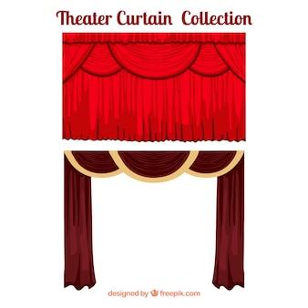 Театр шторы в красных тонах