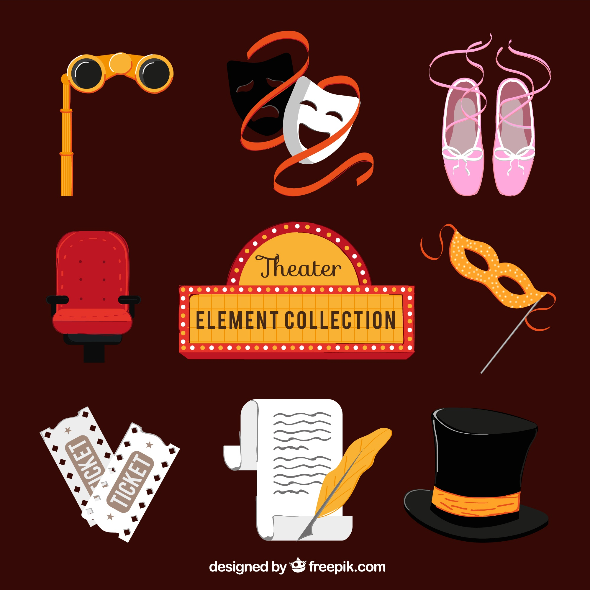 Theater elements collection