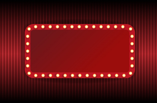 Theater marquee isolated on white