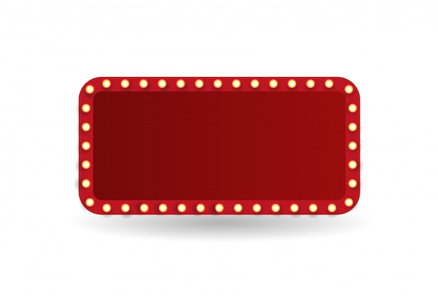 Theater marquee isolated