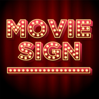 Theater movie sign 3dフォントエフェクト