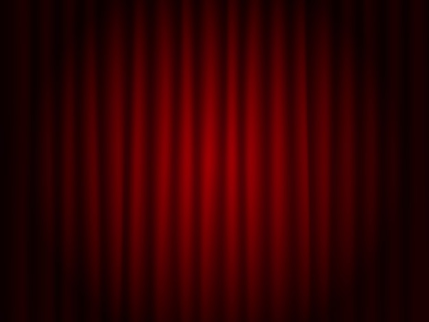 Theater red drape  background