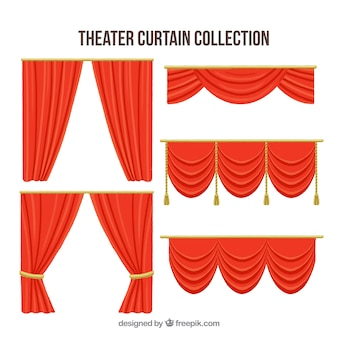 Theater red drapery collection