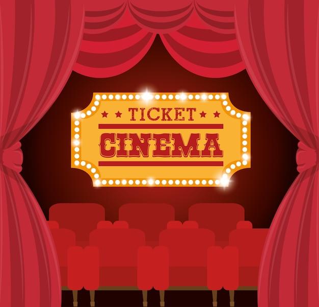 Theater ticket cinema golden