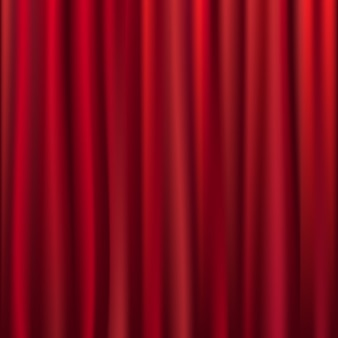 Theater velvet curtain with lights and shadows,  illustration