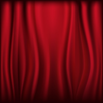Theater velvet curtain with lights and shadows,