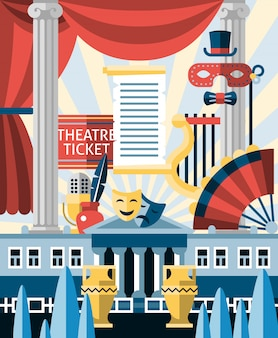 Theatre illustration concept