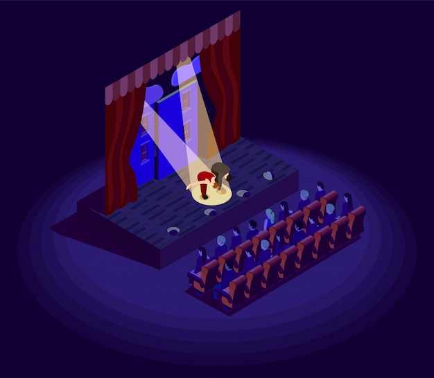 Theatre isometric icon