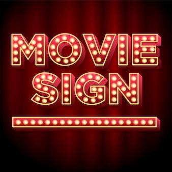 Theatre movie sign 3d font effect