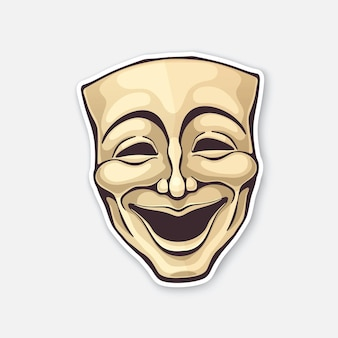 Theatrical comedy mask vintage opera mask for happy actor vector illustration