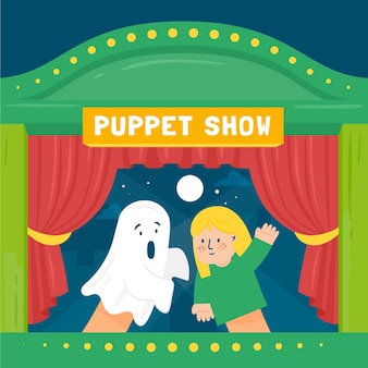 Theatrical puppet show background