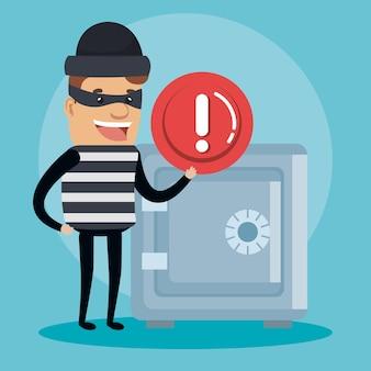 Theft identity avatar character