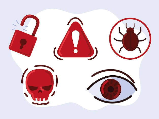Theft identity icons