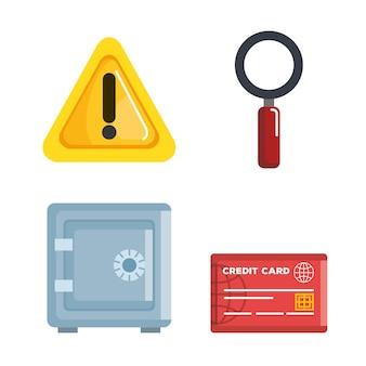 Theft identity set icons