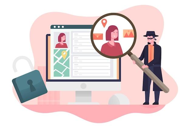 컴퓨터에서 디지털 개인 데이터 도용
