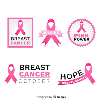 Thematic pink ribbons for breast cancer awarness