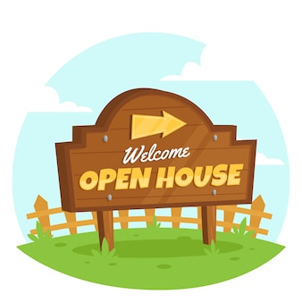 Theme for open house sign