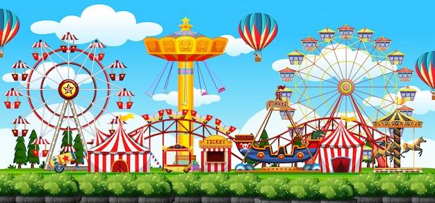A theme park scene