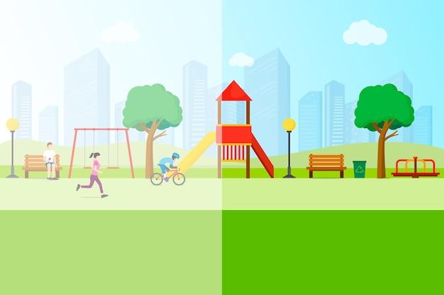 遊び場における環境への影響