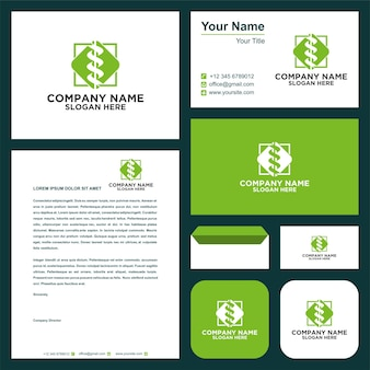 Theraphy medical logo and business card