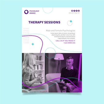 Therapy sessions poster template