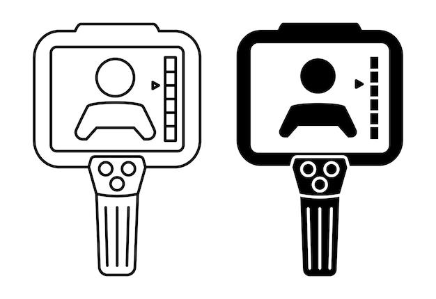 열화상 카메라. 적외선 열화상 카메라로 체온을 확인합니다. 열화상 시스템. 사람들의 체온을 스캔합니다. 코로나바이러스 검출. 발열 측정. 고립 된 벡터