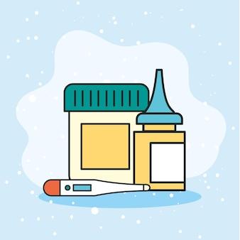 온도계 및 약물