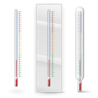 Thermometers with scale divisions isolated