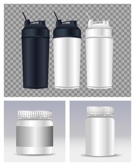 Термопластические бутылки с водой брендинговые значки