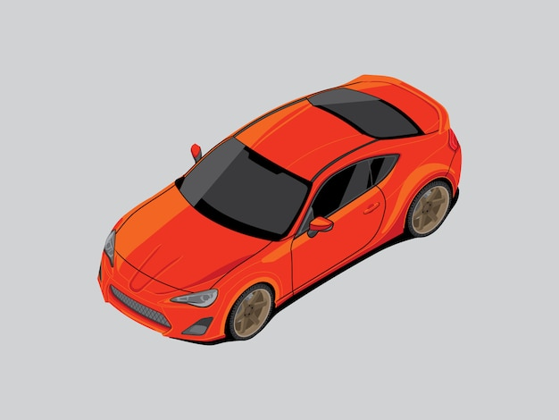 They are car isometric on gray