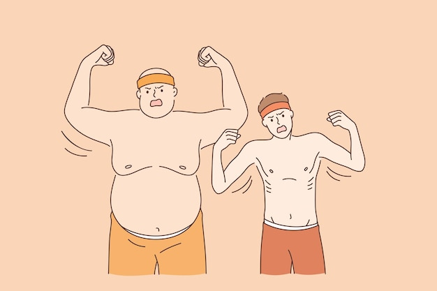 두껍고 얇은 운동 선수 개념