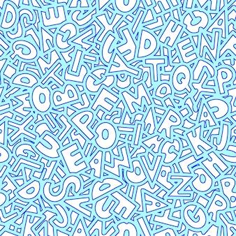 Толстый узор из нарисованных букв. векторная иллюстрация.