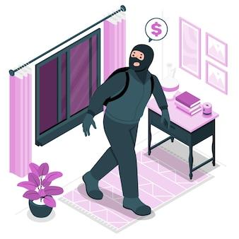 도둑 개념 그림