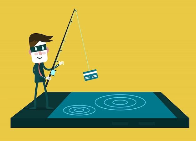 Вор хакер украдет вашу кредитную карту данных и деньги со смартфона