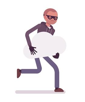 Thief is running away with stolen dream