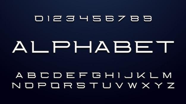 Thin creative font