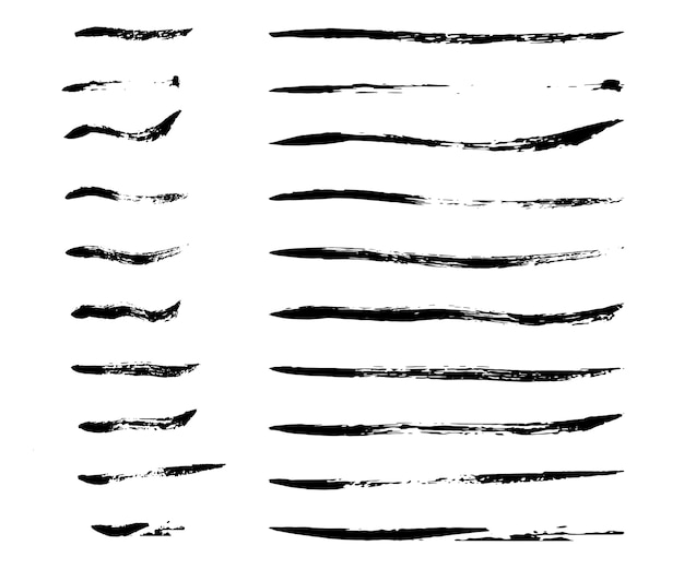 Thin ink brush strokes