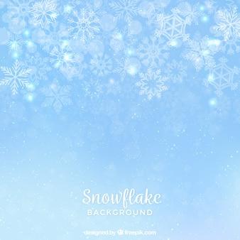 薄いスノーフレークの背景
