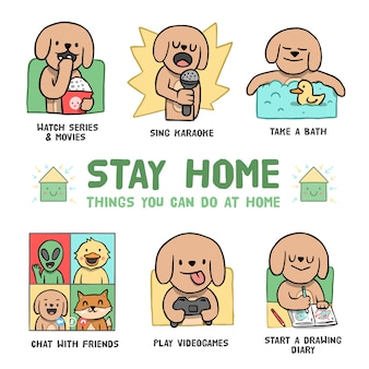 Things to do at home infographic