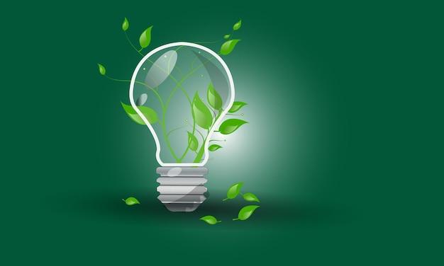 Green eco 에너지 아이콘 기후 변화를 생각하십시오 재생 가능한 디자인