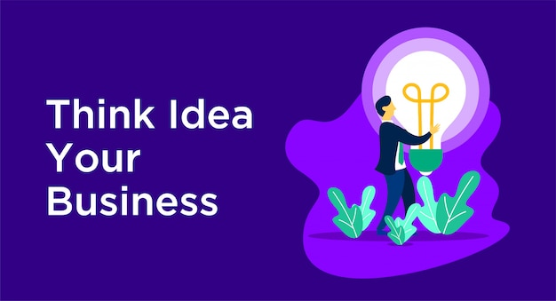 Think idea business illustration