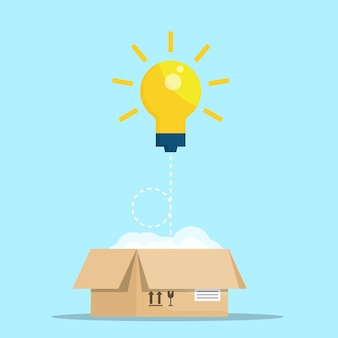 Think out of box vector illustration flat design