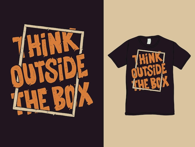 Мыслить нестандартно слова дизайн рубашки
