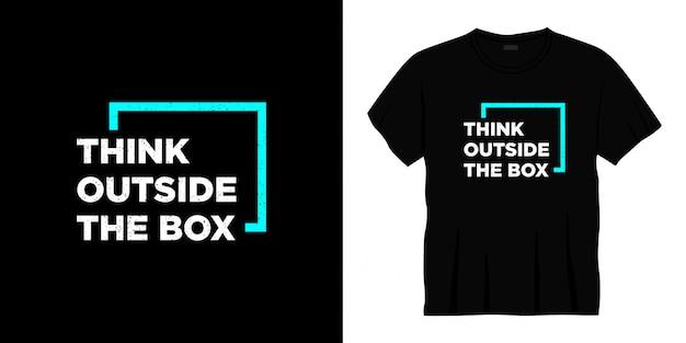 Мыслить нестандартно типографика дизайн футболки Premium векторы
