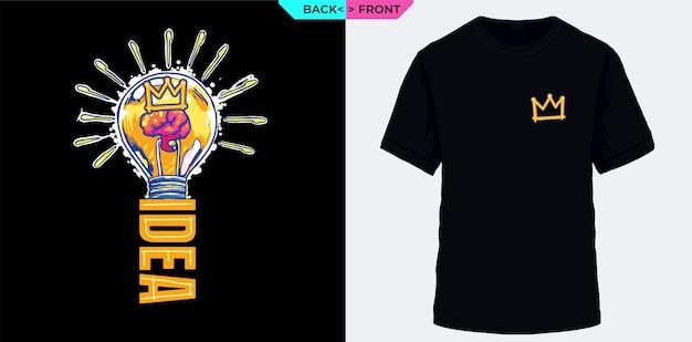 Thinking idea symbol of intelligence suitable for tshirts