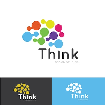 Thinking logo template