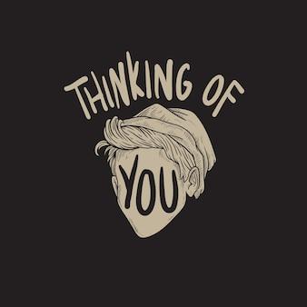 당신 생각 단어 그래픽 개념